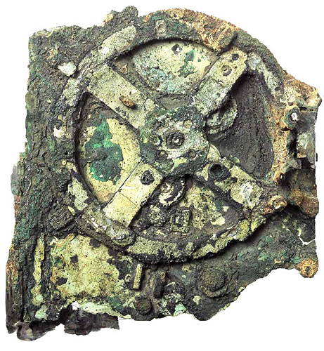 Antikythera Mechanism Research Project  Fragments of the Antikythera Mechanism, an ancient astronomical computer built by the Greeks around 80 B.C. It was found on a shipwreck by sponge divers in 1900, and its exact function still eludes scholars to this day.