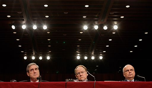 FBI Director Robert Mueller, National Intelligence Director Michael McConnell, and CIA Director Michael Hayden) displayed rare unanimity during the hearings in the Senate Select Committee on Intelligence.