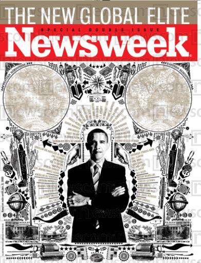 Ασυνήθιστο εξώφυλλο του Newsweek για τον Ομπάμα Wmark